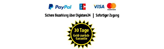 Garantie-Siegel und Bezahlungsweisen