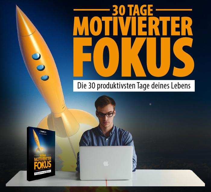 30 Tage motivierter Fokus Verkaufsseite Header