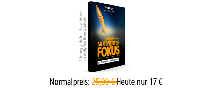 30 Tage motivierter Fokus Produkt
